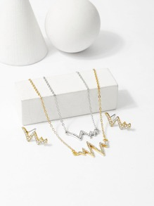 Heartbeat Layered Necklace & Earrings Set