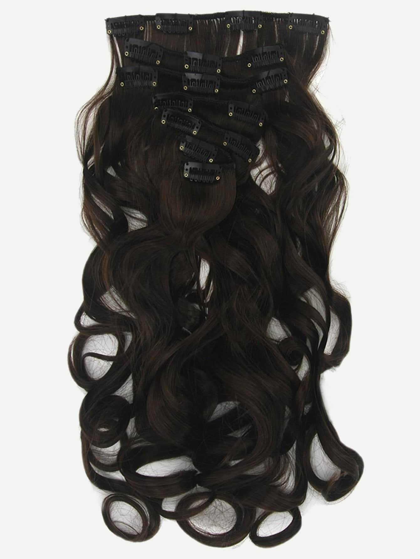 Clip In Soft Wave Hair Extension 1pcfor Women Romwe