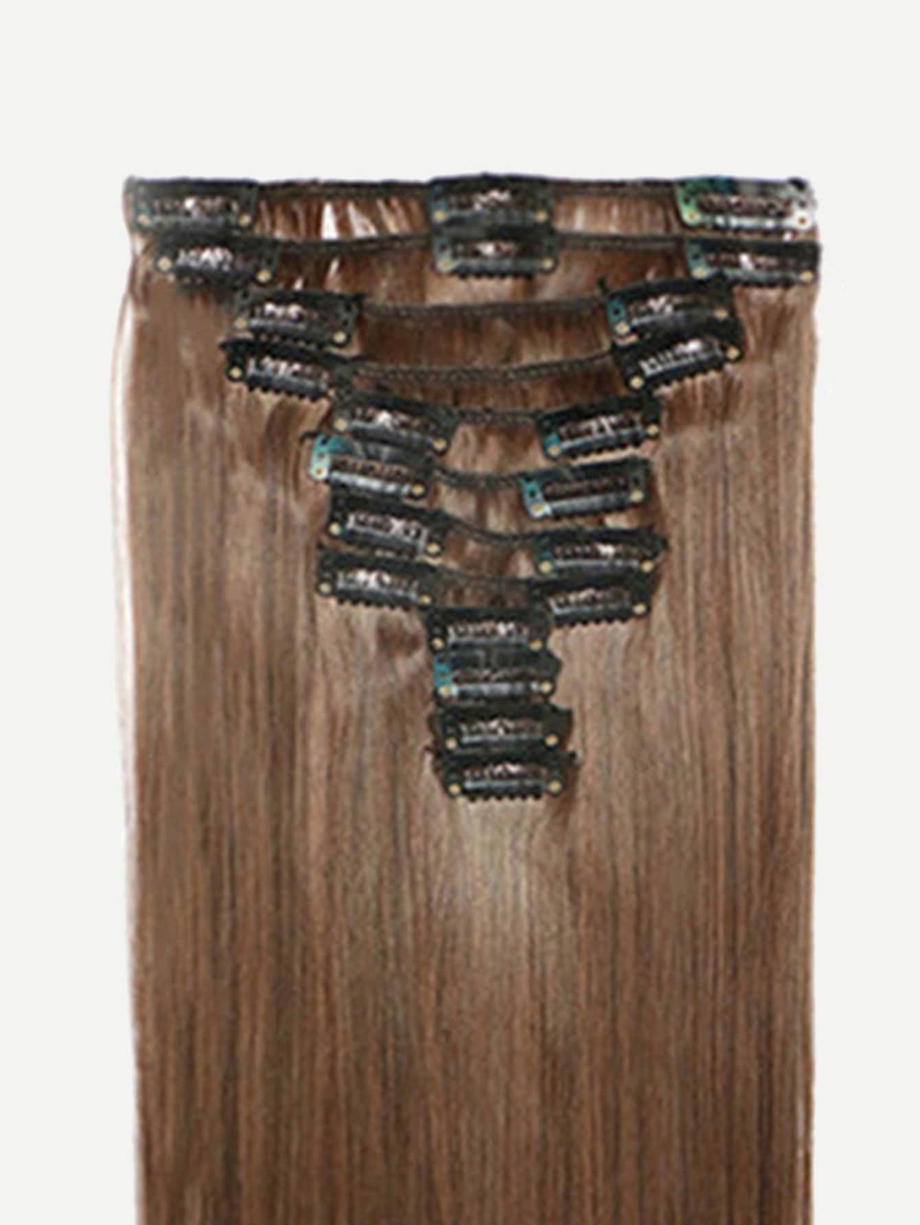 Clip In Straight Hair Extension 1pcfor Women Romwe