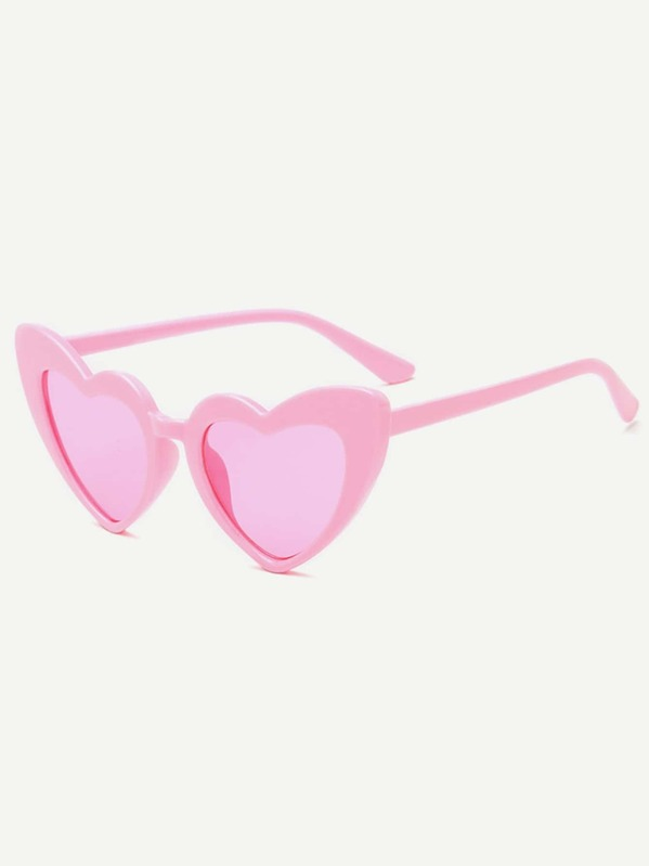 cbe9762a462 Girls Heart Shaped Tinted Lens Sunglasses