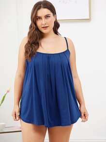 Plus Pleated Cami Night Dress