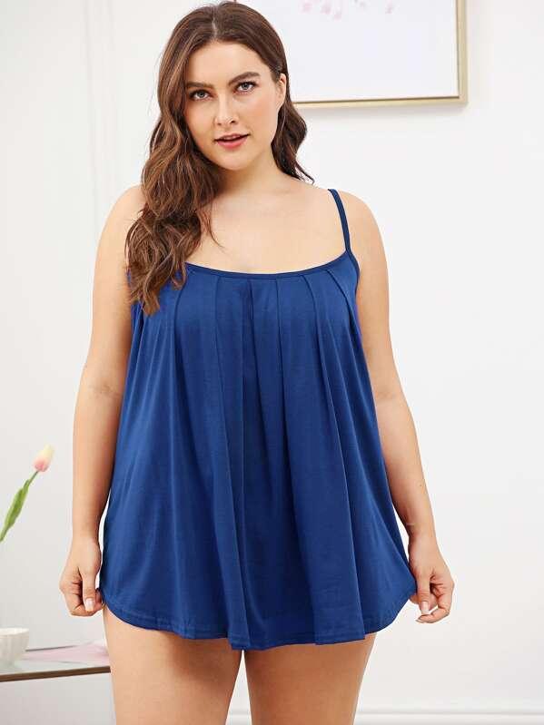 2131655f3bf5f3 Plus Pleated Cami Night Dress