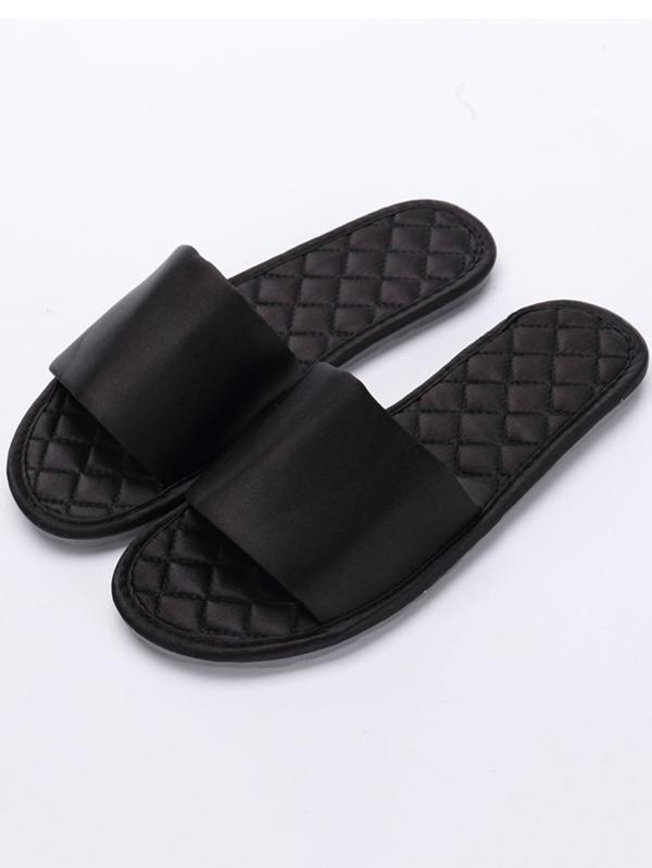 Chaussures Femme Chaussons en satin à orteils ouverts - Chaussures Vendre bien shoes180719810 MLYTJFT