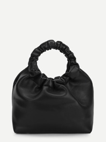 O-Ring Handle PU Bag With Strap