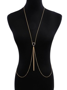 Circle & Tassel Decorated Body Chain 1pc