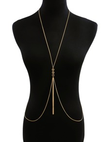 Textured Disc & Tassel Decorated Body Chain