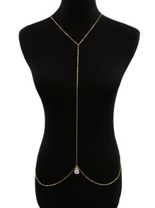 Rhinestone Decorated Layered Body Chain