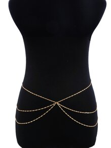 Spiral Design Layered Waist Chain