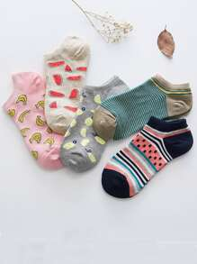 Fruit Pattern Ankle Socks 5pairs
