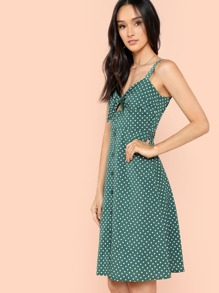 Knot Front Button Up Dress