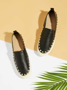 Spike Trim Slip On Flats