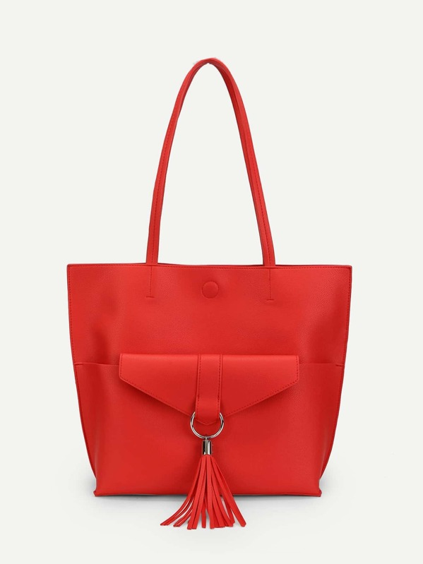 dd967cac0f Pocket Front Tote Bag With Clutch | SHEIN