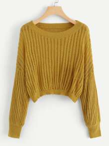Drop Shoulder Ribbed Jumper