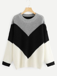 Plus Cut And Sew Chevron Jumper