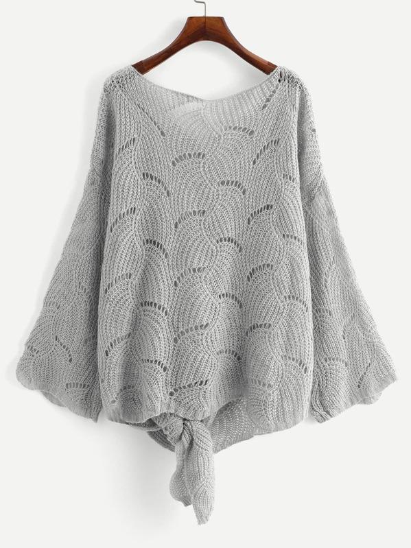 Suéter tejido amplio con nudo grande