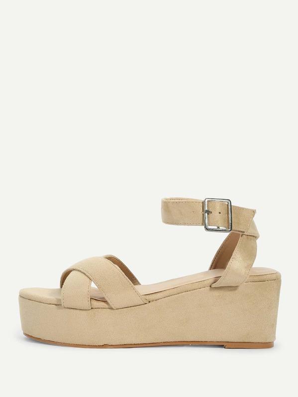 7181fa5e38965 Cheap Criss Cross Platform Wedge Sandals for sale Australia
