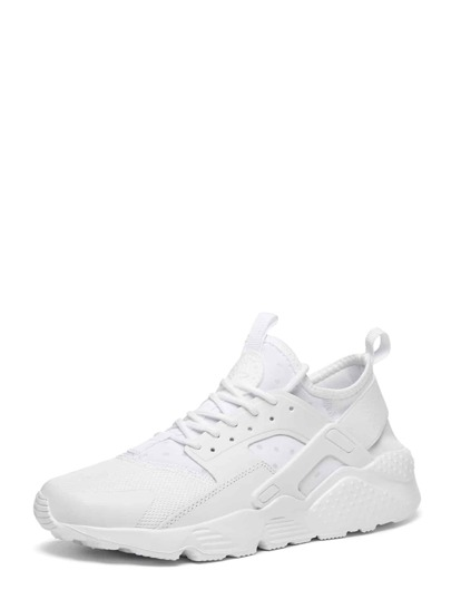 Guys PU Panel Lace Up Sneakers