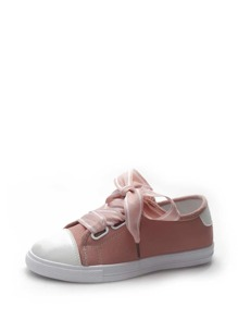 Contrast Trim Canvas Sneakers