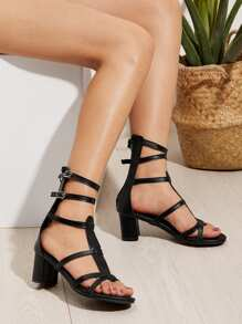 Caged Heeled Sandals