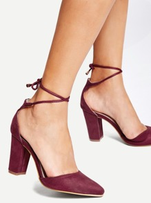 Lace Up Two Part Heels