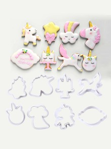 Unicorn Cookie Mold 8pcs