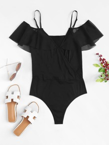 Solid Wrap Cami Bodysuit