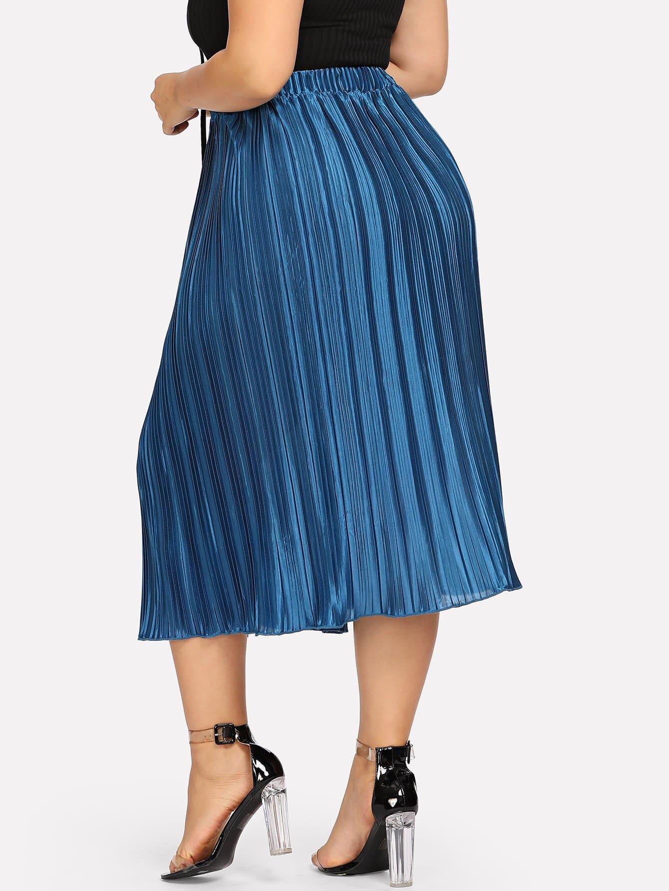 grande taille jupe pliss e taille lastique shein france