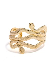 Snake Shaped Layered Cuff Bracelet