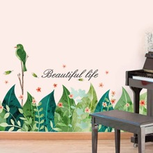 INOpets.com Anything for Pets Parents & Their Pets Bird & Leaves Wall Sticker
