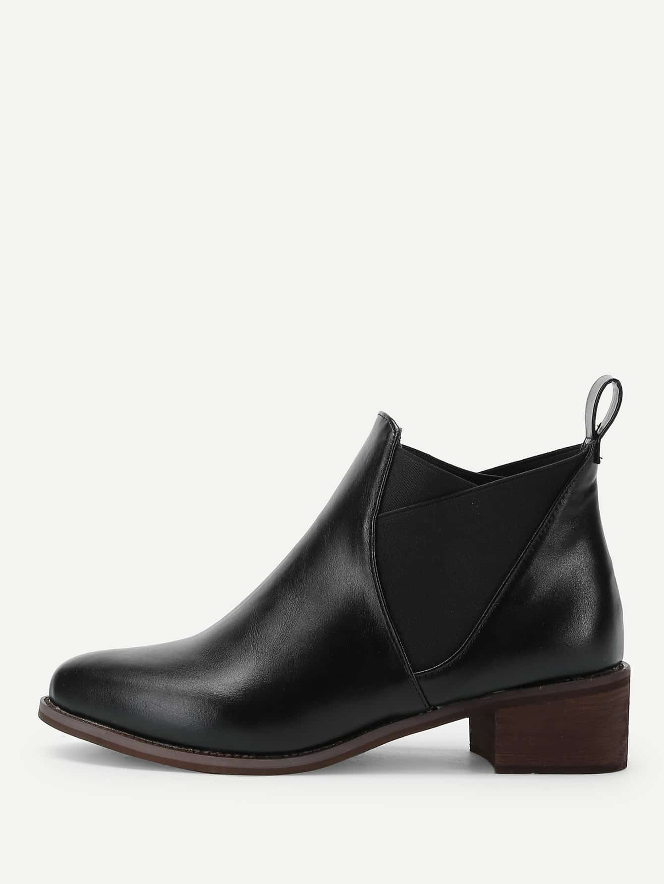 Block Heeled Chelsea Boots