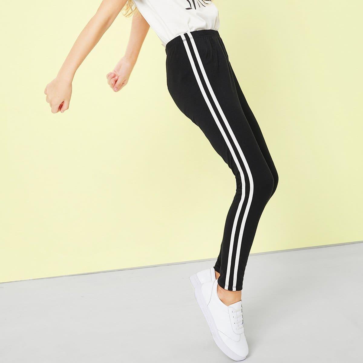 Спортивные брюки с белыми лампасами