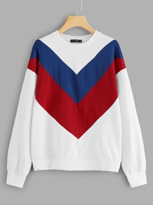 Color Block Tunic Sweatshirt