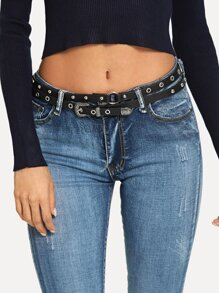 Stud & Eyelet Decorated Belt