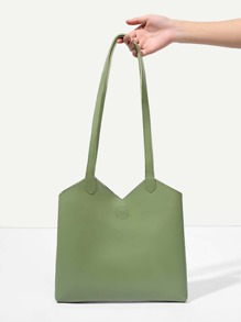 Simple PU Shoulder Bag