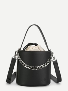 Chain Detail Shoulder Bag With Inner Pouch