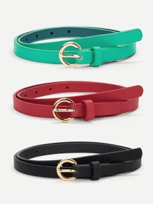 Metal Skinny Belt 3pcs