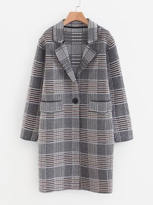 Wales Check Longline Coat