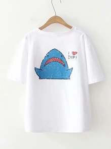 Cartoon Print T-shirt