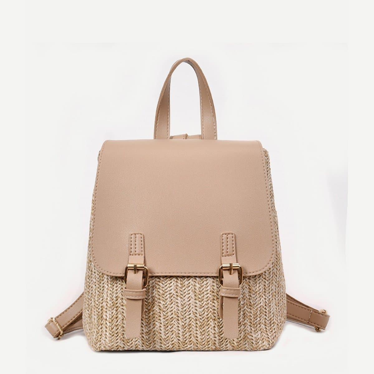 Соломенная сумка и с двойной застёжкой