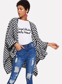 Houndstooth Print Outerwear