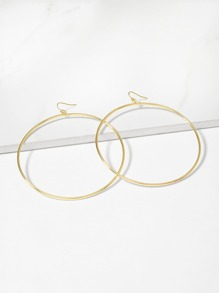 Simple Circle Oversize Hoop Earrings
