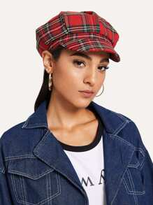Plaid Detective Cap