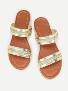 Open Toe Double Strap Sandals