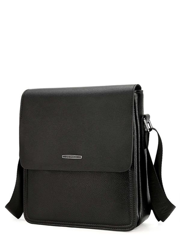 78687c8e77 Men Pebble Detail Flap Messenger Bag | SHEIN