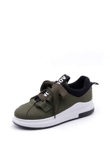 Lace Up PU Sneakers