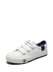 Velcro Strap Low Top Sneakers
