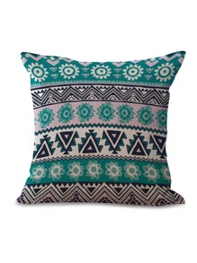 Chevron & Floral Print Pillowcase 1pc