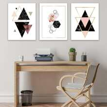 Geometric Painting Cloth Wall Art 3pcs