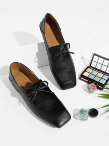 Square Toe Flat Loafers