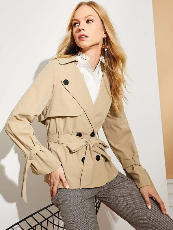 5bf9357d17 Belted Short Trench Coat